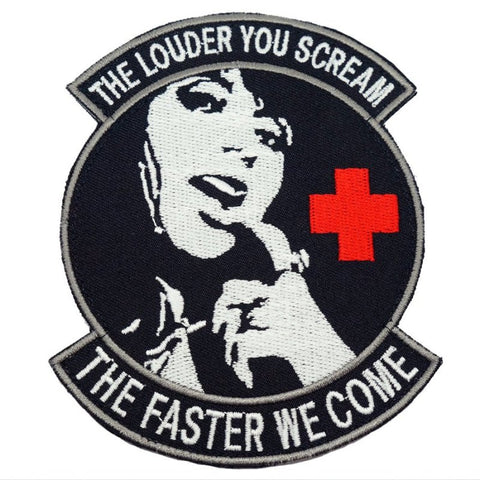 THE LOUDER YOU SCREAM PATCH - BLACK - Hock Gift Shop | Army Online Store in Singapore