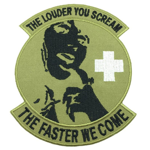 THE LOUDER YOU SCREAM PATCH - GLOW IN THE DARK - Hock Gift Shop | Army Online Store in Singapore