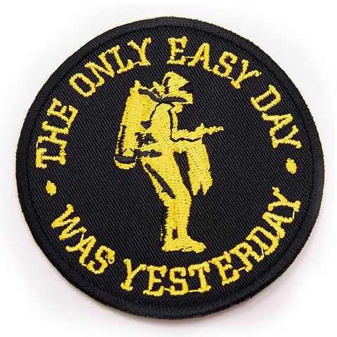 THE ONLY EASY DAY WAS YESTERDAY PATCH - BLACK WITH YELLOW - Hock Gift Shop | Army Online Store in Singapore