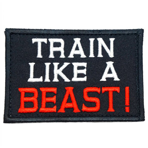 TRAIN LIKE A BEAST PATCH - BLACK - Hock Gift Shop | Army Online Store in Singapore