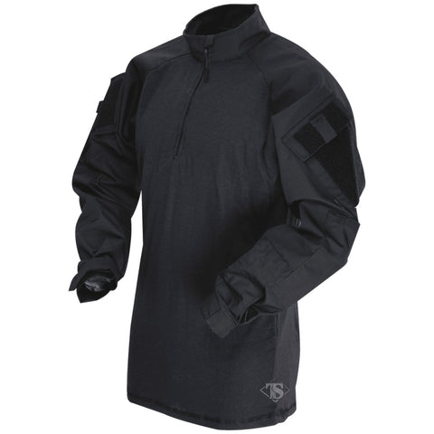 TRU-SPEC T.R.U. 1/4 ZIP COMBAT SHIRT - BLACK