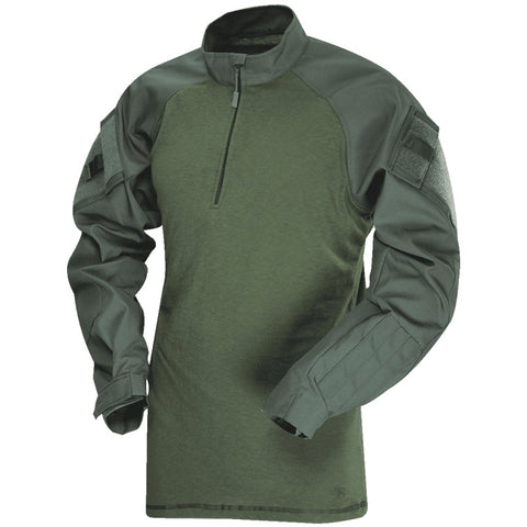 TRU-SPEC T.R.U. 1/4 ZIP COMBAT SHIRT - OD GREEN