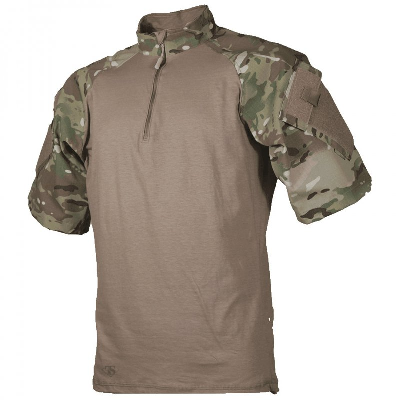TRU-SPEC T.R.U. SHORT SLEEVE 1/4 ZIP COMBAT SHIRT - MULTICAM