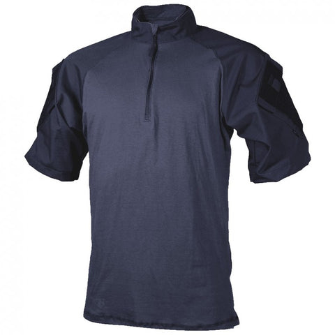 TRU-SPEC T.R.U. SHORT SLEEVE 1/4 ZIP COMBAT SHIRT - NAVY