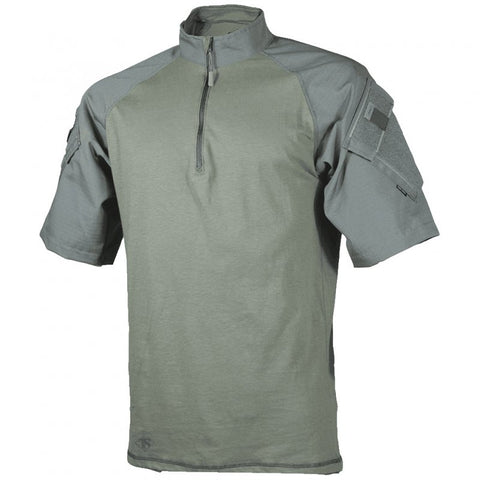 TRU-SPEC T.R.U. SHORT SLEEVE 1/4 ZIP COMBAT SHIRT - OD GREEN