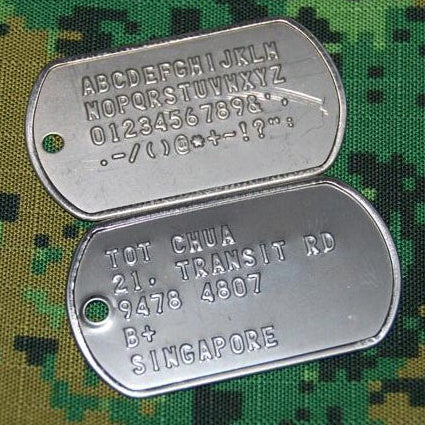 US MILITARY DOG TAG (EMBOSSING)