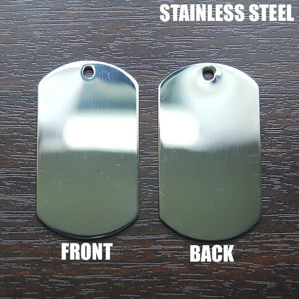US MILITARY DOG TAG ENGRAVING (STAINLESS STEEL) – Hock Gift Shop ... 295a3449cc7e