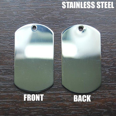US MILITARY DOG TAG ENGRAVING (STAINLESS STEEL)