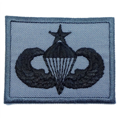 US SENIOR PARACHUTIST BADGE - GREY