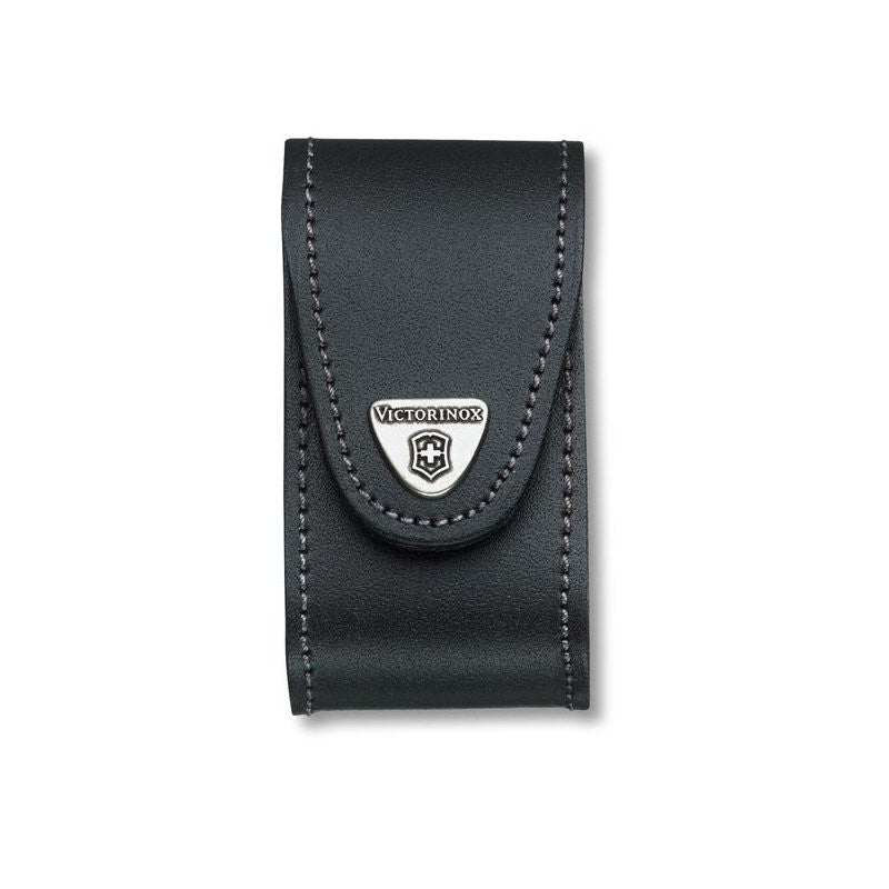 VICTORINOX LEATHER POUCH (FOR SWISS CHAMP) - BLACK