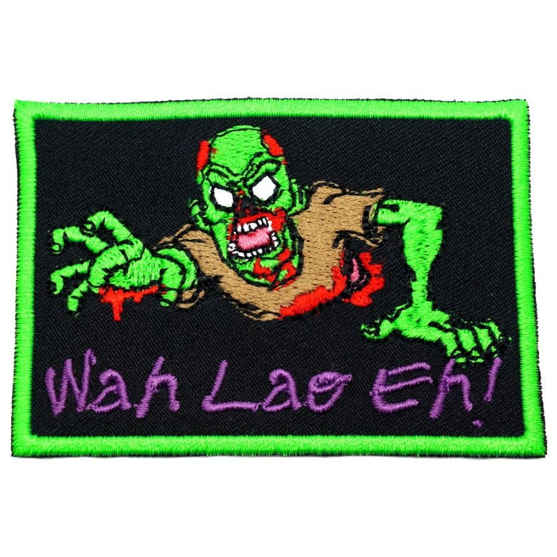 WAH LAO EH ZOMBIE PATCH - GREEN - Hock Gift Shop | Army Online Store in Singapore