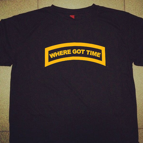 HGS T-SHIRT - WHERE GOT TIME TAB (YELLOW) - Hock Gift Shop | Army Online Store in Singapore