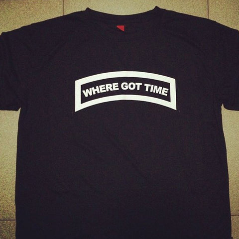 HGS T-SHIRT - WHERE GOT TIME TAB (WHITE) - Hock Gift Shop | Army Online Store in Singapore