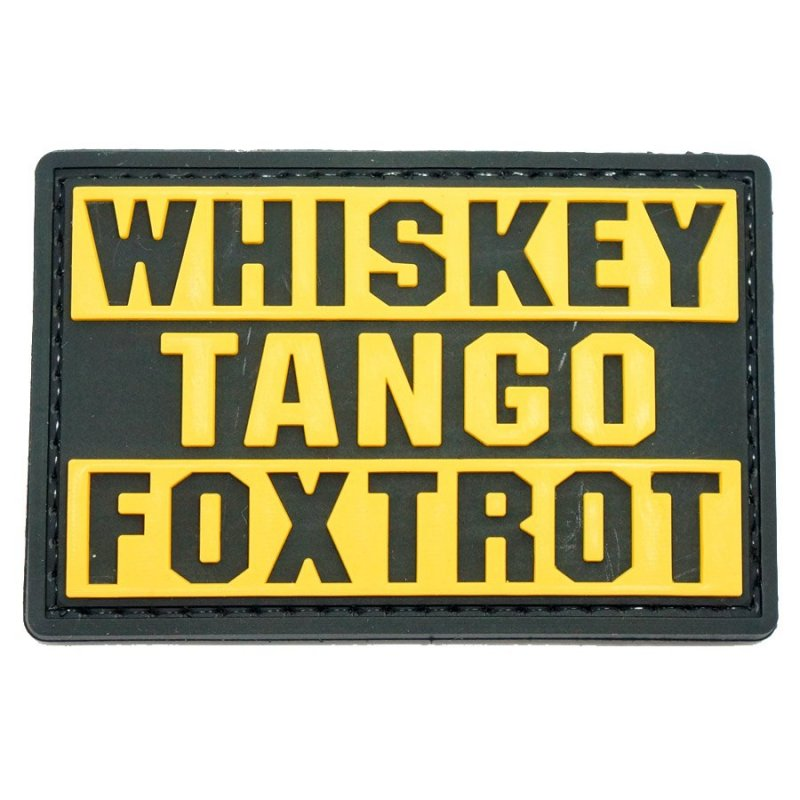 Whiskey Tango Foxtrot Patch Hock Gift Shop Army Online