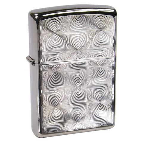 ZIPPO HIGH POLISHED CHROME DIAMOND PATTERN