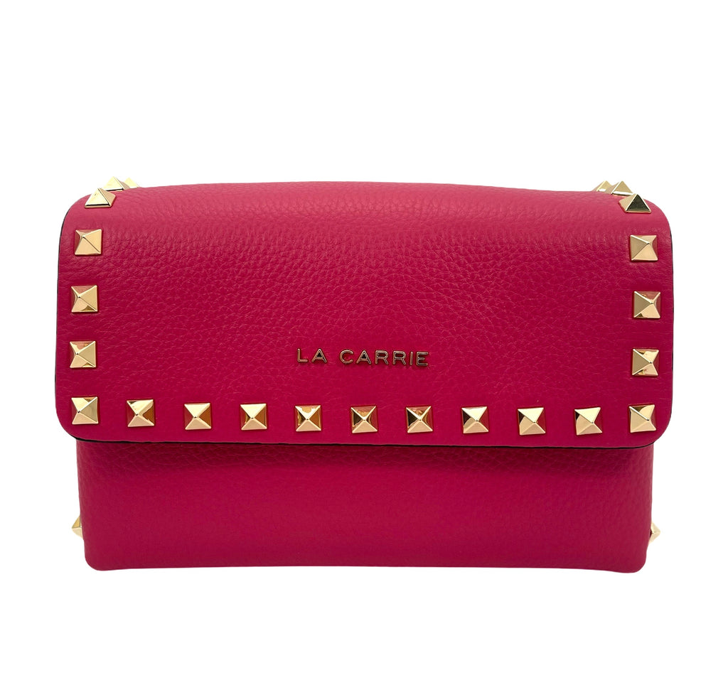 La Carrie bag studs Lucy shoulder bag leather -DISPONIBILE IN PIU' COLORI