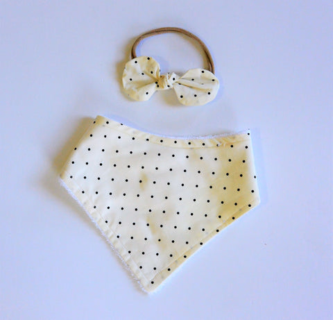 Cream & Black Polka Dot Accessories
