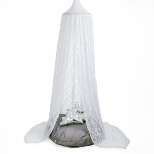 HANGING TENT-LACE WHITE