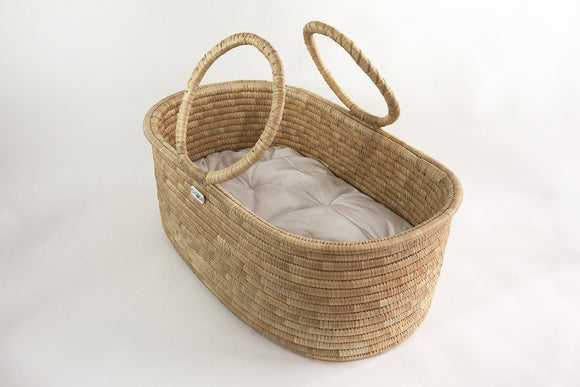 MOSES BASKET WITH ROUND HANDLES