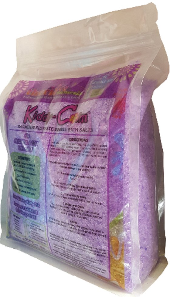 KIDDY CALM BATH SALTS - RASPBERRY PURPLE