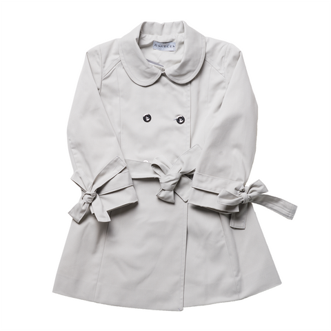 Girls Grey Trench | 灰色風衣