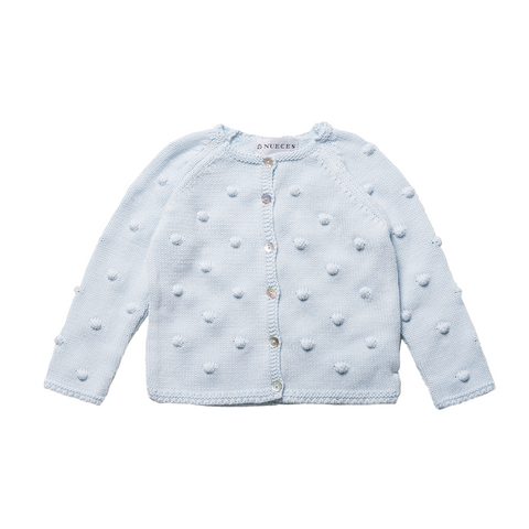 Girls Light Blue Knitted Cardigan | 粉藍色針織外套