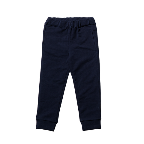 Boys Blue Cotton Pants  | 深藍色綿質長褲