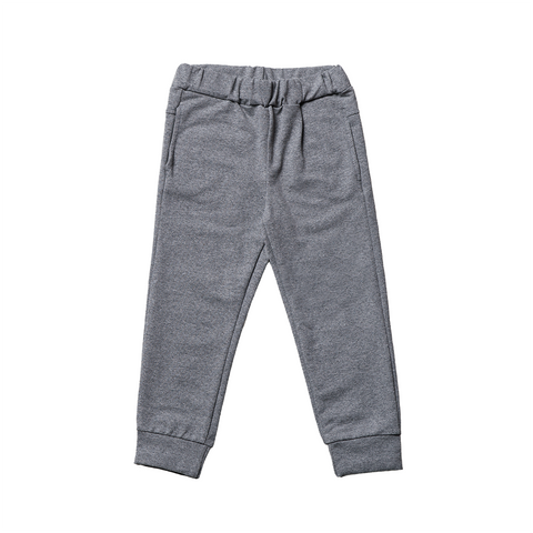 Boys Grey Cotton Pants  | 灰色綿質長褲