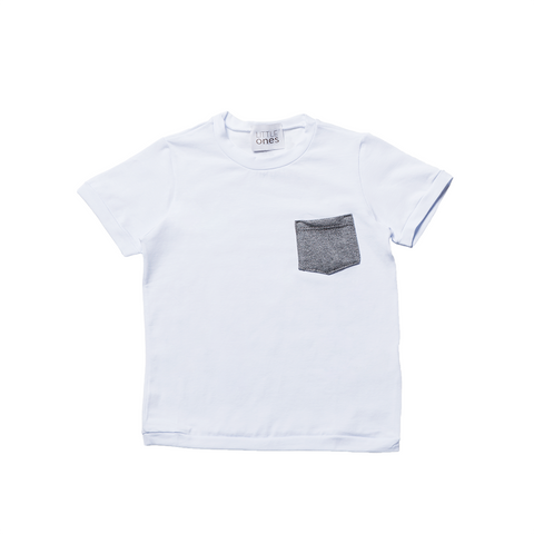 Boys White Short Sleeves T-shirt  | 白色短袖T-shirt