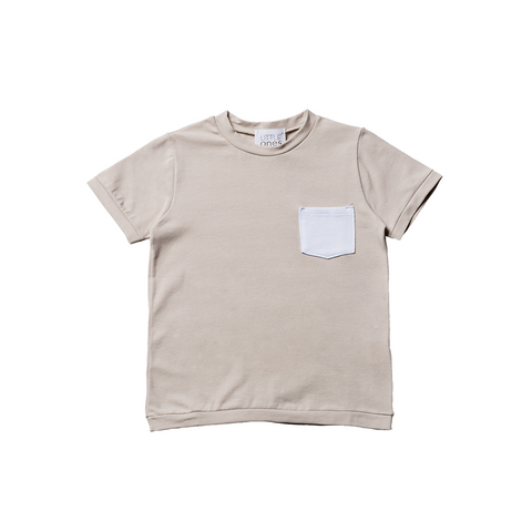 Boys Beige Short Sleeves T-shirt  | 米色短袖T-shirt