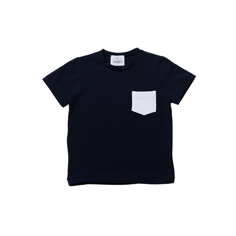 Boys Blue Short Sleeves T-shirt  | 深藍色短袖T-shirt
