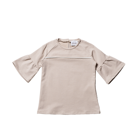 Girls Beige Cotton Top  | 米色綿質上衣