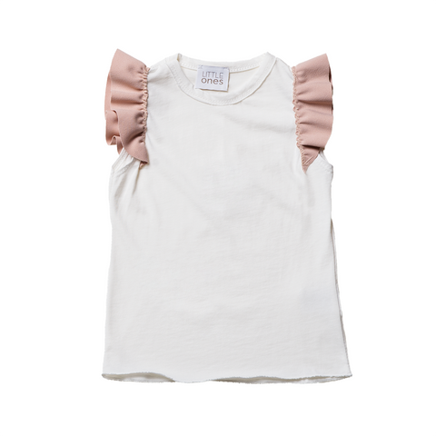 Girls White Sleeveless Top  | 白色無袖上衣