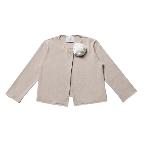 Girls Beige Cardigan with Brooch  | 米色外套連胸針