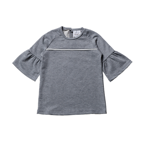 Girls Grey Cotton Top  | 灰色綿質上衣