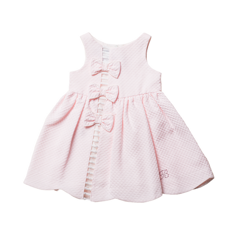 Girls Pink Piqué Dress | 粉紅色Piqué連身裙