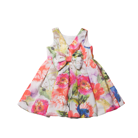 Girls Floral Print Dress | 花卉圖案連身裙