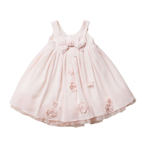 Girls Pale Pink Tulle Dress | 粉紅色薄紗花女裙