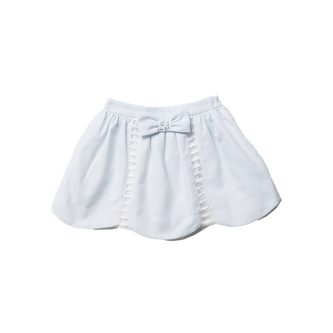 Girls Blue Piqué Skirt | 藍色Piqué短裙