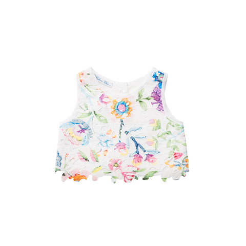 Girls Floral Printed Top | 花卉圖案短款上衣