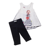 Girls Blue 2 Piece Leggings Set | 藍色內搭褲連套裝