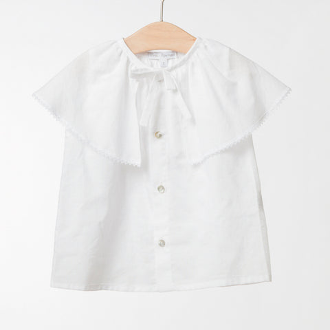 Girls White Cotton Blouse | 白色棉質上衣
