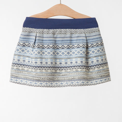 Girls Blue Lurex Skirt | 藍色Lurex短裙