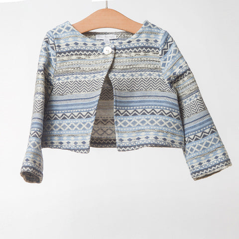 Girls Blue Lurex Jacket | 藍色Lurex外套