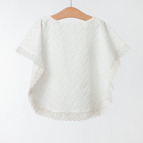 Girls Off-White Cotton Blouse | 米白色棉質上衣