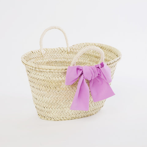 Girls Straw Bag with Decoration | 小草籃連配飾