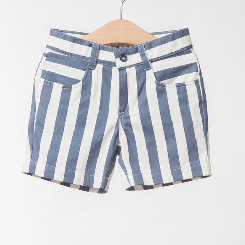 Boys Blue Stripe Shorts | 藍白條紋短褲
