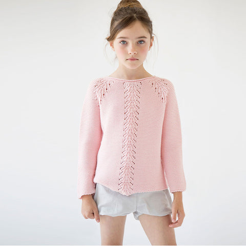 Girls Pink Reversible Jumper Bow | 粉紅色雙面開叉背外套