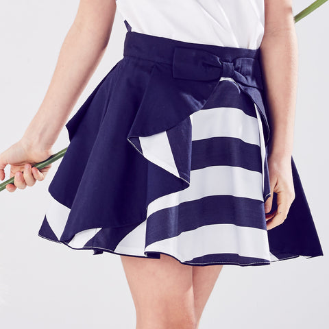 Wavy Skirt Nautical Stripes | Wavy藍白色短裙