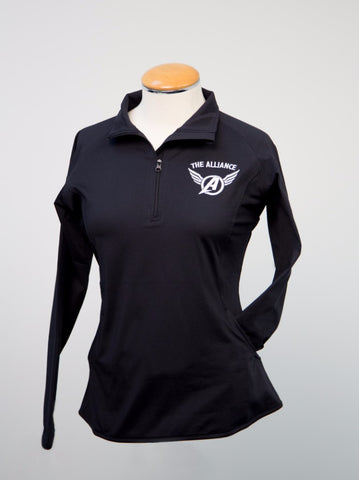 Ladies 1/4 zip Pullover